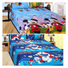 Singhs Villas Decor Polycotton Abstract Double Bedsheet, double bed