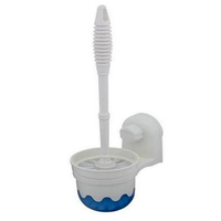 ALPYOG Toilet Brush holder Toilet Brush with Holder (White)
