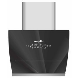 Maplin Kitchen Chimney Model GO-60 in 60 cm (Silver) with Features Auto Clean, LPG Sensor, Wave Sensor Auto Glass Opening