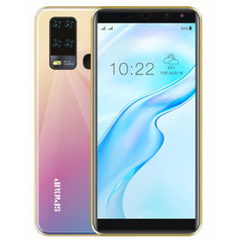 """Spinup A6 4G Smartphone (2GB 16GB) Volte (Jio sim Supported) 5.99"""" Inch Display 4G Smartphone (2GB RAM, 16GB Storage) in Dazzling Gold"""