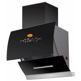 SURYA Auto clean Glass opening Kitchen Chimney Model GO-2020 (Black) With Auto Glass opening, Wave Sensor, Completely Automatic, LPG Sensor