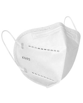 Maplin Health Pro KN 95 mask for men and women mask Pack of 10Pcs. in White Colour