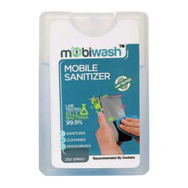 Mobiwash Mobile Sanitizer (20 ml) with 250 Shots (Pack of 2)