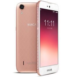 """Sugar C6 5"""" Touch-screen 4G Reliance Jio 4G Sim Support 2 GB RAM & 16 GB Internal Memory and 13 Mpix /5 Mpix Hd Smartphone With 4000 mAh Battery, white / rosegold, 7 days return / replacement policy after delivery , generally delivered by 5 working days"""