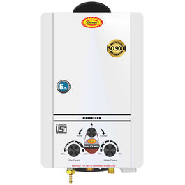 Surya Instant Gas Geyser with Heavy Copper Tank in 6.5 litres Instant/min Model Desire White