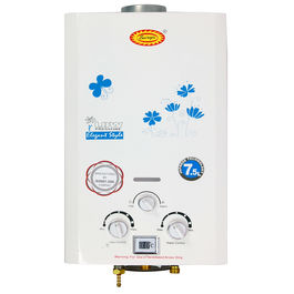 Surya Instant Gas Geyser 7 litres (Temperature Display) with Heavy Pure Copper Tank in White