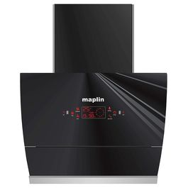 Maplin Auto Glass Opening Kitchen Chimney Model GO60 in 60 cm (Black) with Features Auto Clean, LPG Sensor, Wave Sensor