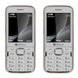 Mercury F37 Heavy Battery Dual Sim Mobile Phone in White colour combo, white white