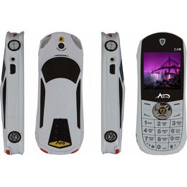 Agtel Ferrari Car Model Dual Sim Mobile Phone in White Colour, white, 7 days return / replacement policy after delivery , generally delivered by 5 working days