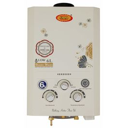 Surya Instant Gas Geyser with Heavy Copper Tank in 6 liters in White Colour