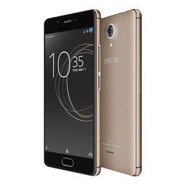 Sugar C7 Finger Print Sensor 3GB RAM Model with 5.0-inch 1080p display, Quad Core, 3GB RAM (Reliance Jio 4G Sim Support) 32 GB Internal Memory and 13 Mpix /8 Mpix HD Smartphone in Gold Colour, gold, generally delivered by 5 working days, 7 days return / r