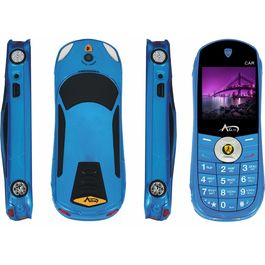 Agtel Ferrari Car Model Dual Sim Mobile Phone in Blue Colour, blue, 7 days return / replacement policy after delivery , generally delivered by 5 working days