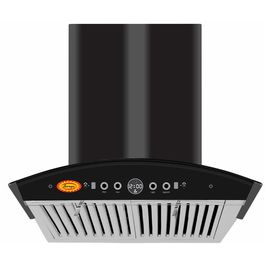 Surya TD-1400 M3 Auto Clean Kitchen Chimney (RangeHood) with Hand Wave Sensor, Auto Clean, Gas Sensor, Baffle Filter & Touch Panel in Black Stainless Steel