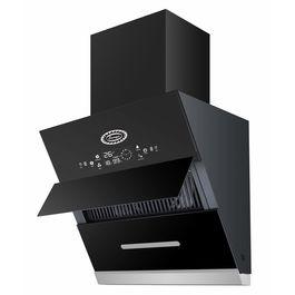 Surya Glass Kitchen Chimney Model SU1001 (60) -2021 in 2 Feet (Black) with Features Auto Clean, LPG Sensor, Wave Sensor