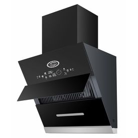 Surya Glass Kitchen Chimney Model SU1001 (60) -2021 in 2 Feet (Black) with Features Auto Clean, LPG Sensor, Wave Sensor