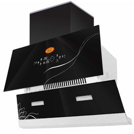 Surya Autoclean Kitchen Chimney 90 cm (Electric Chimney) With Auto Glass Opening (Model: SU902) Hand Wave Sensor, Completely Automatic, Gas Sensor, Auto Clean, Touch Control, Filter less Chimney