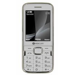 Mercury F37 Heavy Battery Dual Sim Mobile Phone in white colour, white