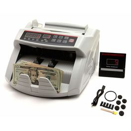 Surya Currency Counting Machine with Fake note Detection with Digital Display in White Colour