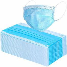 Maplin 3-Ply Non woven Mask With Adjustable Nose Pin set of 50pcs In Blue Colour