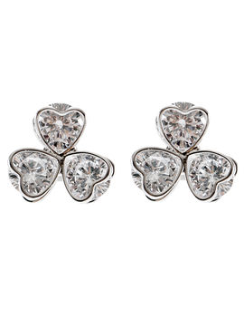 Eternz suave collection silver plated heart shaped earring for women