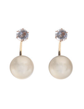 ETERNZ GOLD PLATED PEARL DROP EARRING