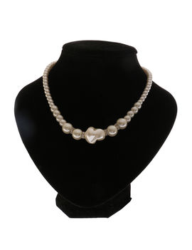 Eternz kids collection white pearl fashion necklace set (earring, neckpiece) for kids