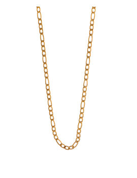 Eternz men collection gold plated long link type chain