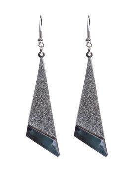 Eternz silver plated lengthy bent shape earring for women