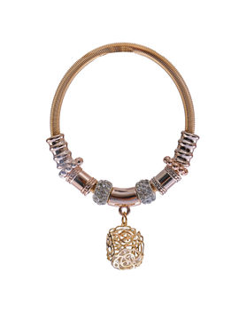 Eternz reve collection bracelet with gold plating and hanging charms for women