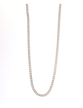 Eternz men collection silver plated link type chain