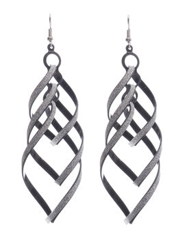 Eternz reve collection hanging earring with twists and turns and a silver lining