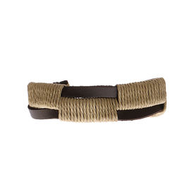 Eternz handmade leather bracelet with twin brown strap with sandal crossings