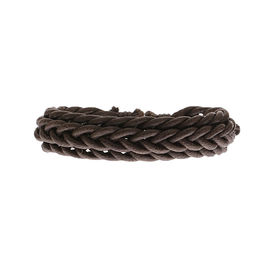 Eternz handmade brown leather bracelet with twists and folds