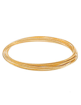 Eternz reve collection gold plated multiple ring bangle for Women