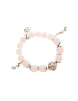 Eternz handmade collection bracelet with baby pink crystals and fish charms for Women