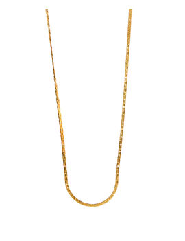 Eternz men collection gold plated close link type chain