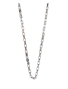 Eternz men collection silver plated box type chain