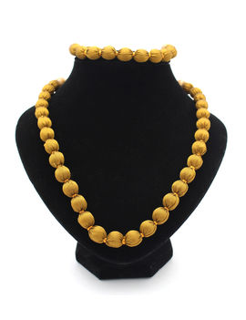 Eternz handmade golden colour fabric collection necklace and bracelet for women