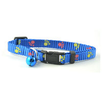 Easypets Adjustable Cat collar with bell (Blue)