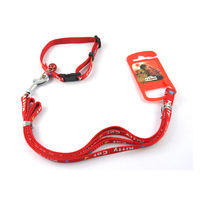 Easypets CASUAL Adjustable small Pet cat leash with collar fancy (Red)
