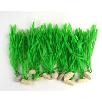 Champion Plastic Decoration Grass Plant 8 Inches (Pack of 10)