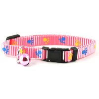 Easypets Adjustable Cat collar with bell (Pink)