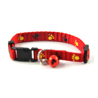 Easypets Adjustable Cat collar with bell (Red)