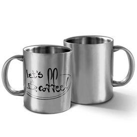 DUMMY-Hot Muggs Let's Coffee - Message Mug, silver