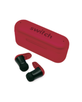 SWITCH TRUBUDZ STYLE TRUE WIRELESS EARBUDS,  red