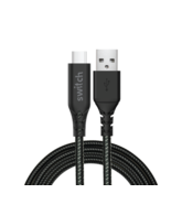 SWITCH ULTRA RUGGED USB A TO TYPE C CHARGE & SYNC CABLE, 1.8m,  black