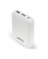 SWITCH POWER BANK GO 10K MAH RUBBER FINISH,  white