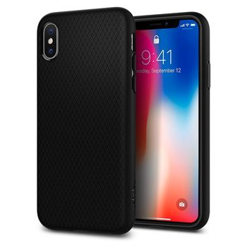 SPIGEN IPHONE X BACK CASE LIQUID AIR,  matte black