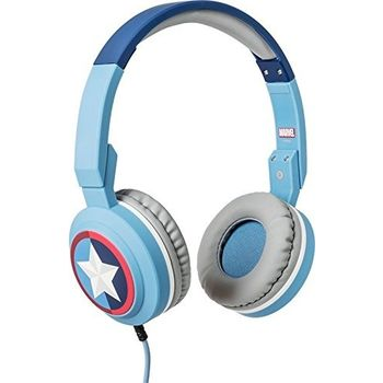 TRIBE ON EAR STEREO HEADSET CAPTAIN AMERICA,  blue