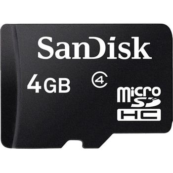 SANDISK MICROSD 4GB MEMORY CARD+ ADAPTER - NOT FOR SALE